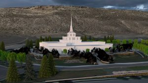 Billings Montana Temple Dusk