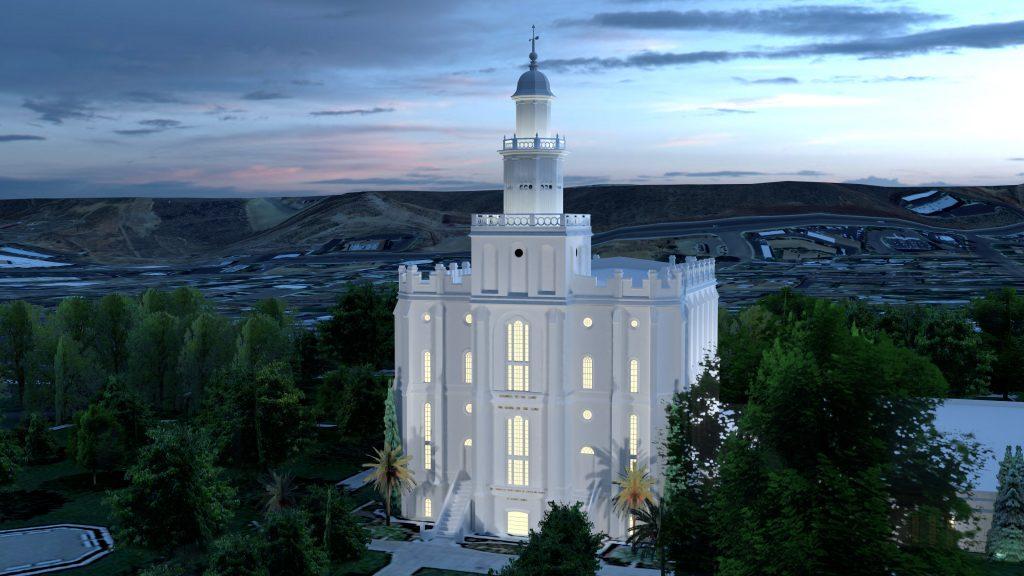St. George Utah Temple Dusk